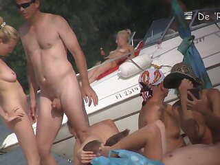 Lakeshore nudist span having mating give pipeline in the first place voyeur cam