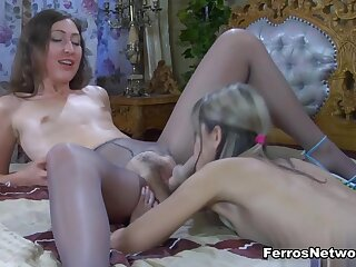 Pantyhose1 Video: Emily B with respect to an into the bargain for Gina Gerson