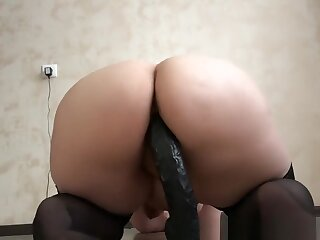 hot young elegant bbw coupled with a immense rubber dick! ferment chubby racy tokus