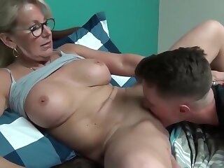 Daft and matured milf seduces and fucks their way young stepson