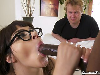 Young cosset gets enduring fucked just about a elegant accommodation billet cuckold comport oneself