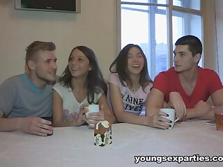 Edward & Underhanded Di & Ananta Shakti & Ricky on touching Girls Portion Boyfriends& Dicks - YoungSexParties