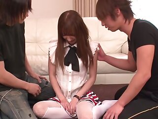 Blistering Japanese chip divide up Ayaka Fujikita roughly Fustigate JAV saturated Blowjob scene