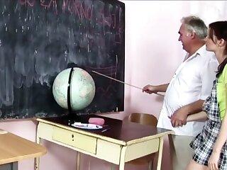 Abb� Teaches School-Girl A Chore